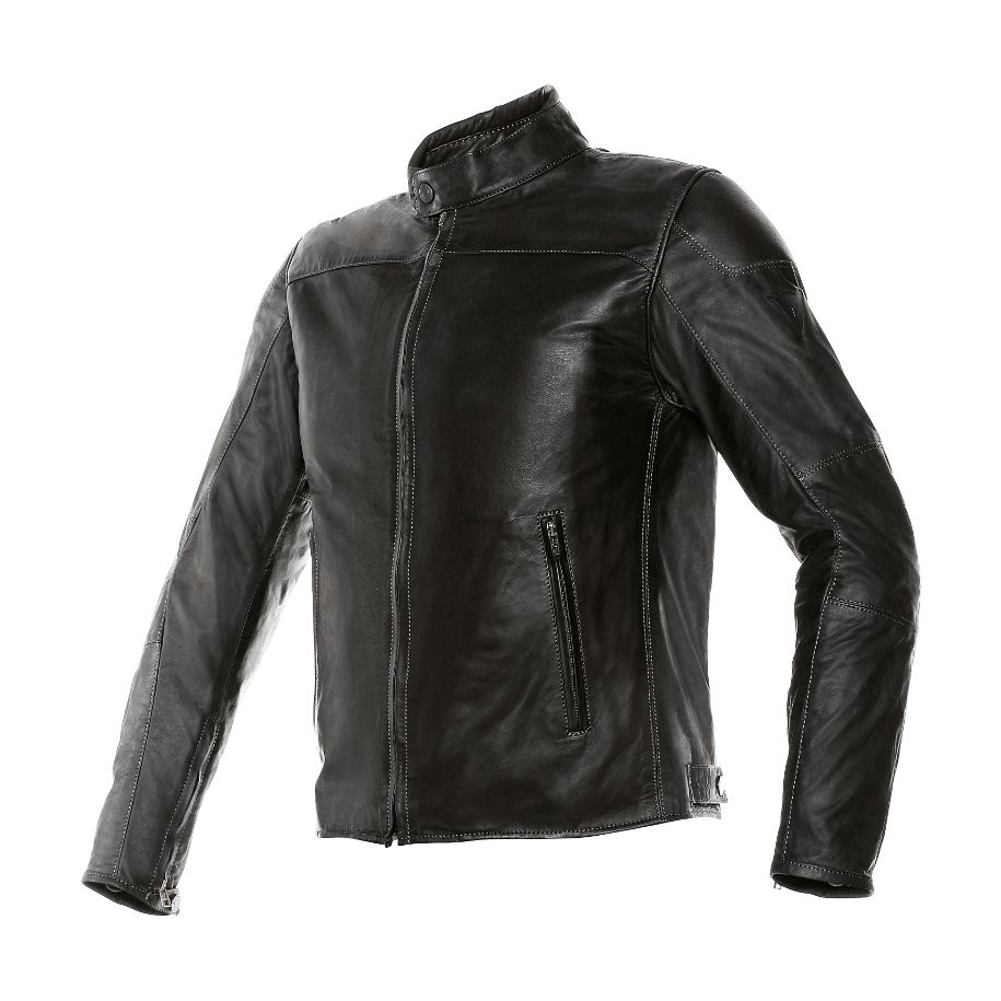 Giacca moto pelle Dainese Mike Nero