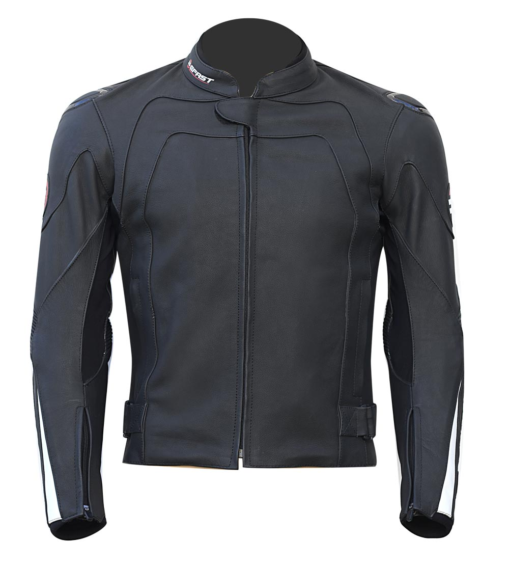 Giacca moto pelle racing Befast Faster Nero