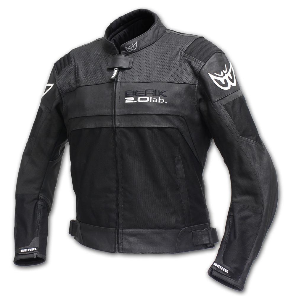 Giacca moto pelle racing Berik LJ10641 Nero