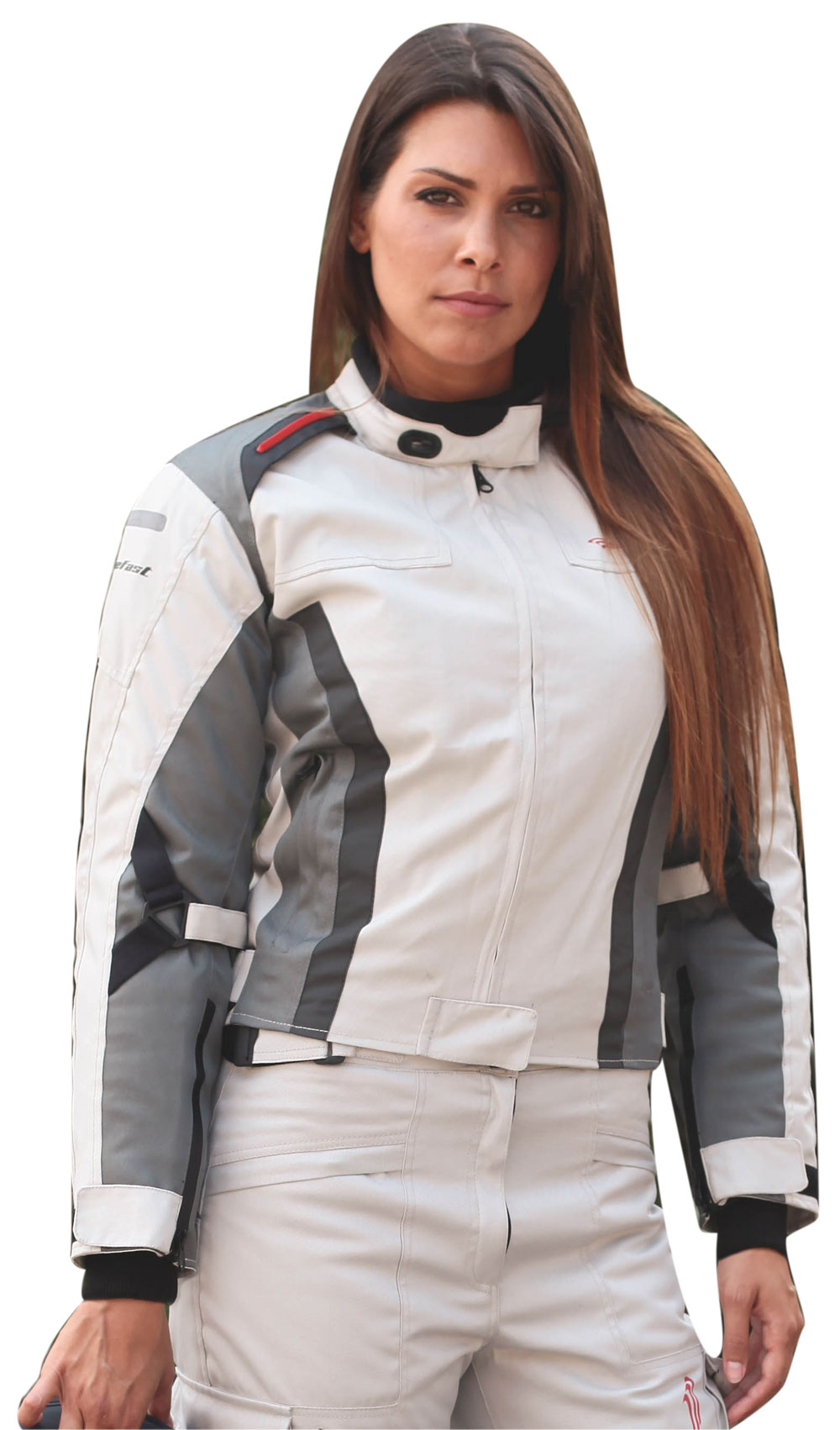 Giacca moto donna Befast Tuono WP Lady Grigio