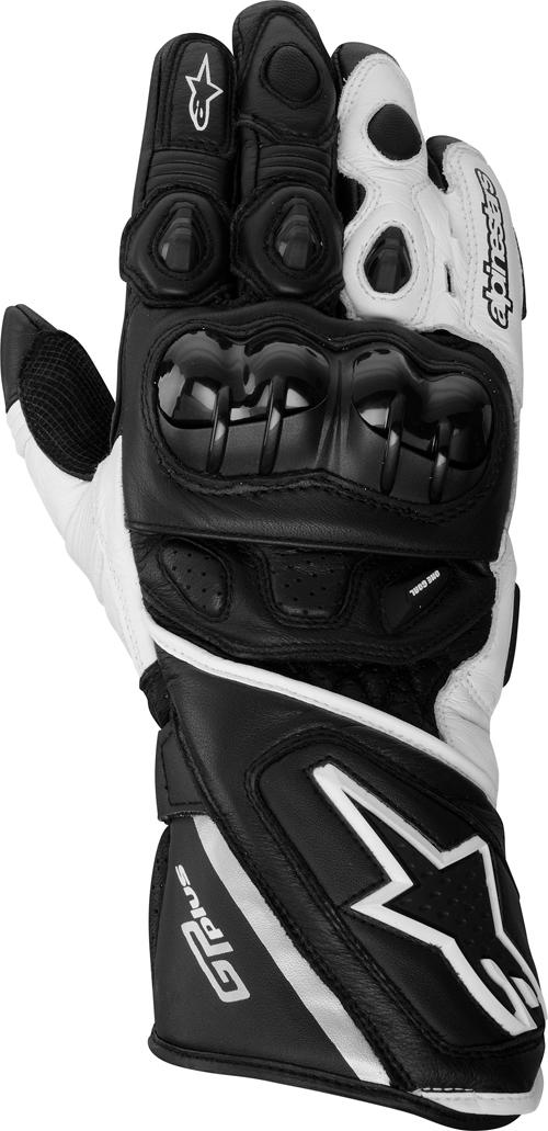 Guanti moto pelle Alpinestars GP Plus nero-bianchi