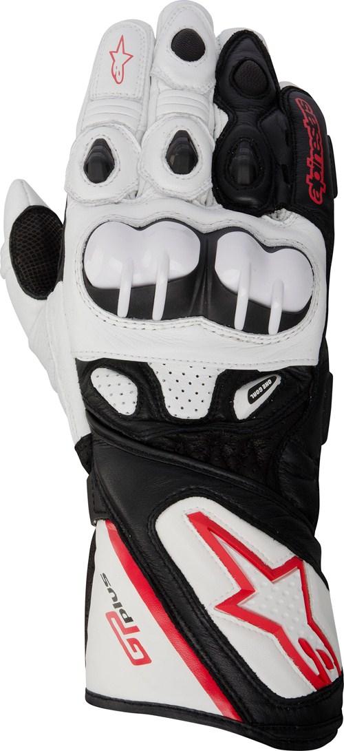 Alpinestars GP PLUS leather gloves white-black