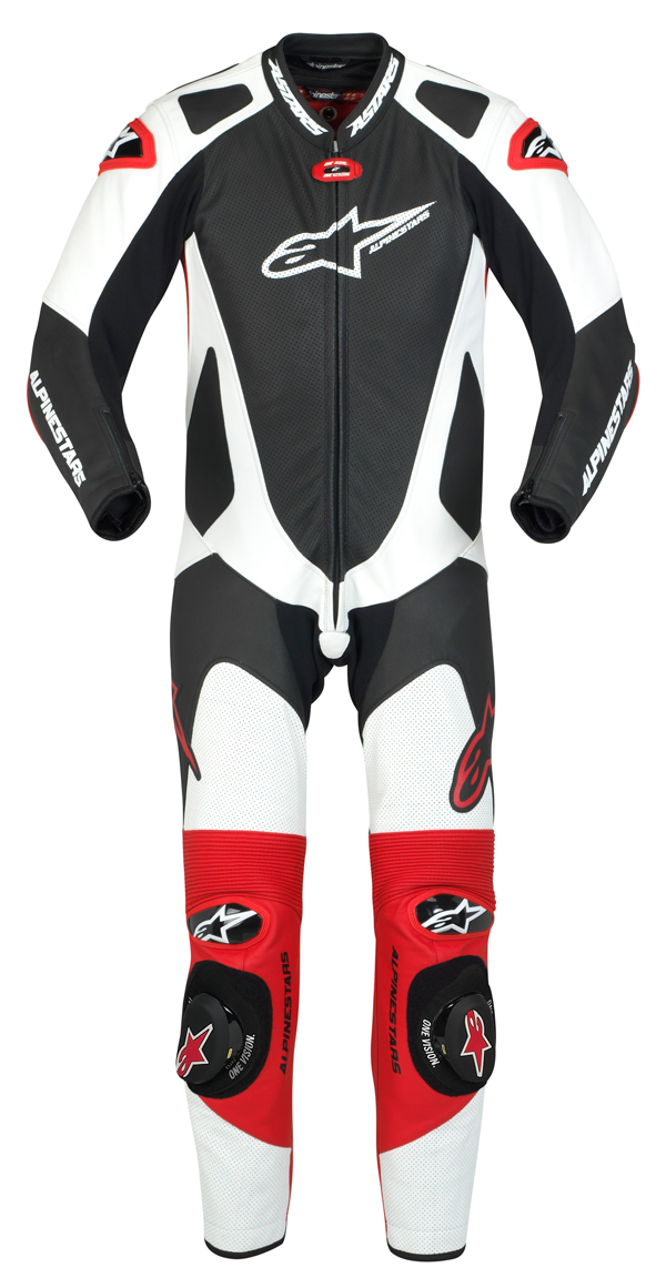 Tuta moto intera Alpinestars  GP Pro nero-bianco-rossa