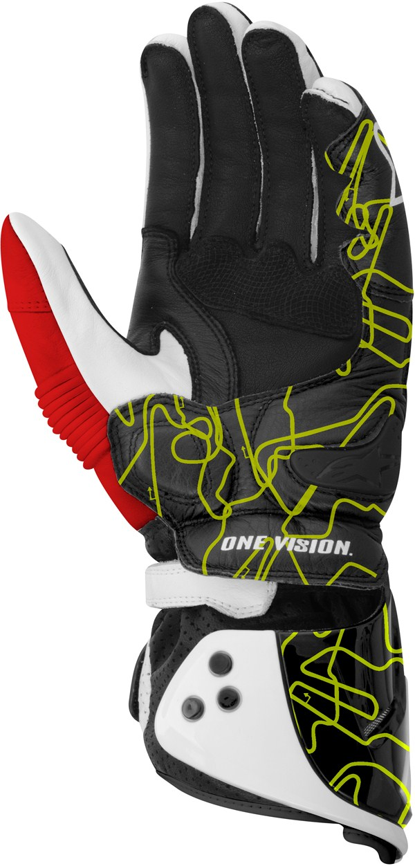 Alpinestars GP PRO gloves white-black-yellow tracks