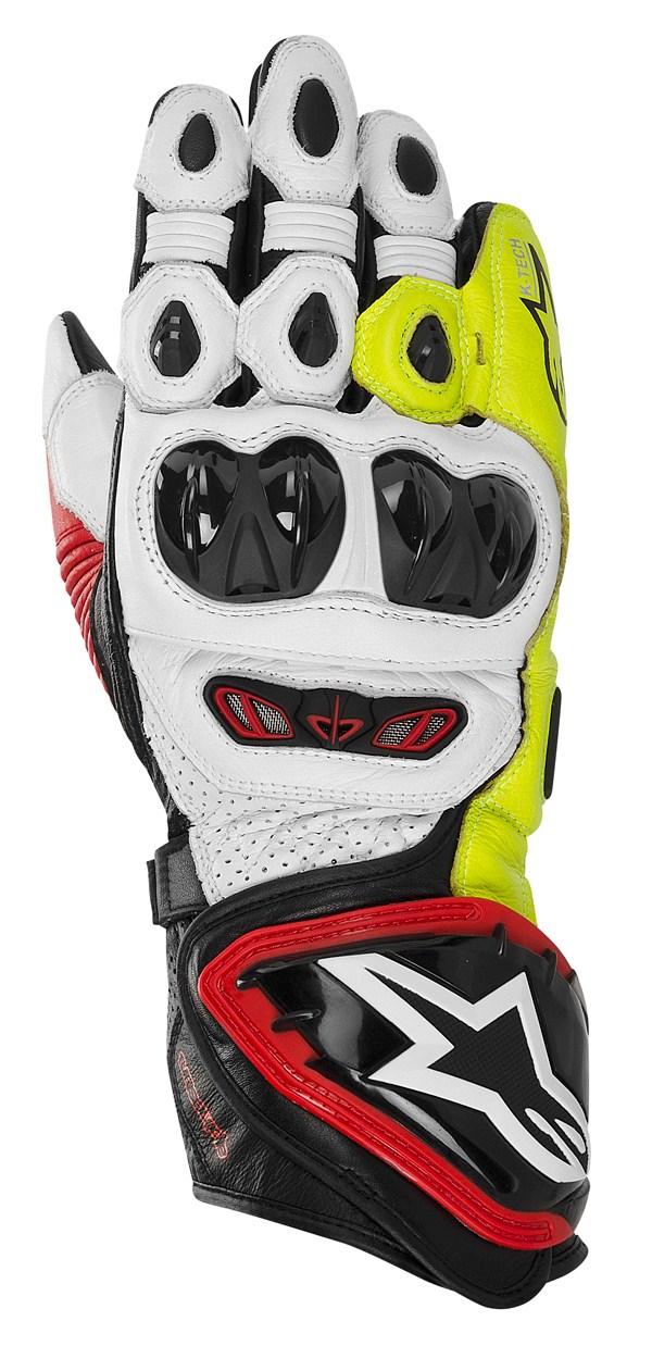 Guanti moto Alpinestars GP TECH neri-rosso giallo