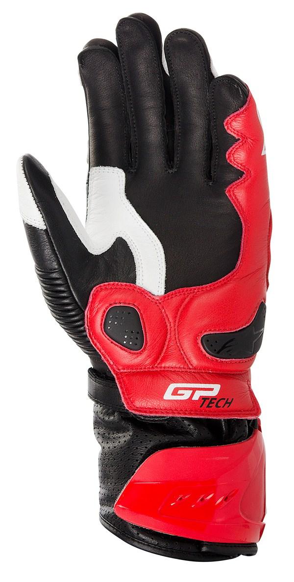 Guanti moto Alpinestars GP TECH bianco-rosso-nero