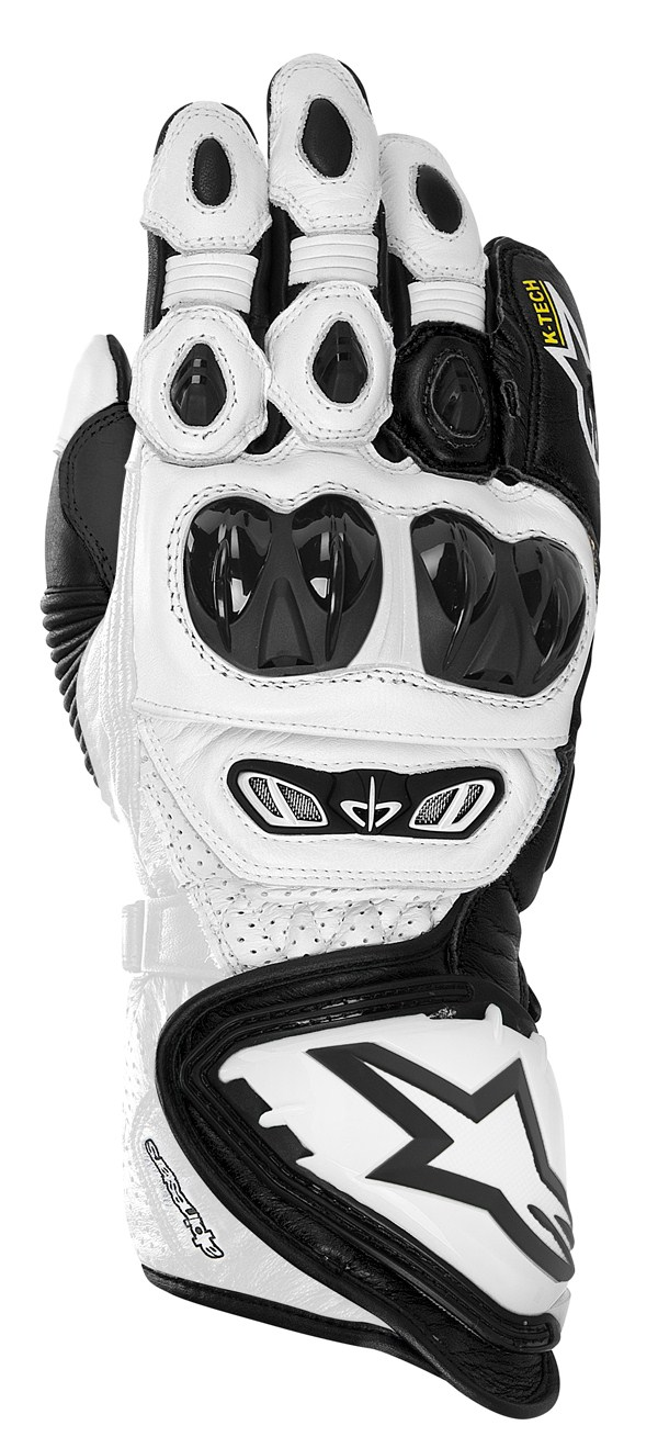 Alpinestars GP TECH leather gloves white-black