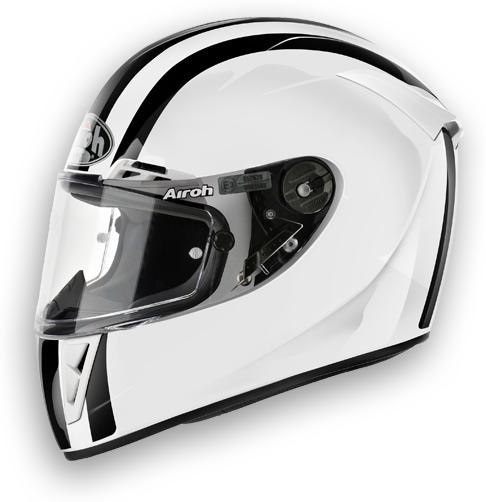 Casco moto Airoh GP 400 Circuit bianco lucido