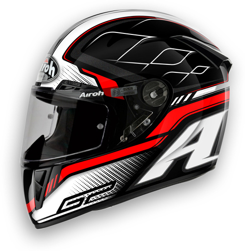 Casco moto Airoh GP 400 Lemans nero lucido