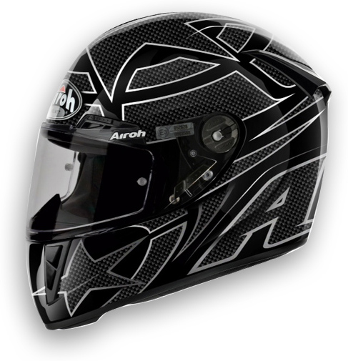 Airoh GP 400 Motorcycle Helmet Shot glossy black