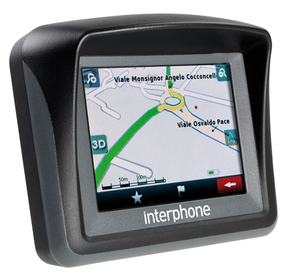 Navigatore satellitare moto Interphone Europa19 Cellular Line