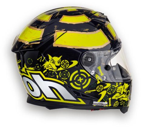 Casco moto Airoh GP 500 Replica Iannone nero lucido