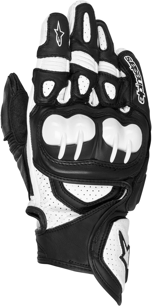 Alpinestars GPX leather gloves black-white