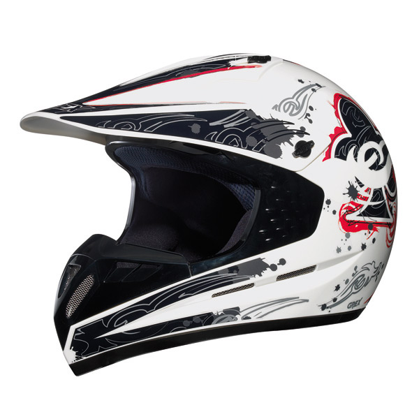 Grex C1 Decor cross helmet White Red
