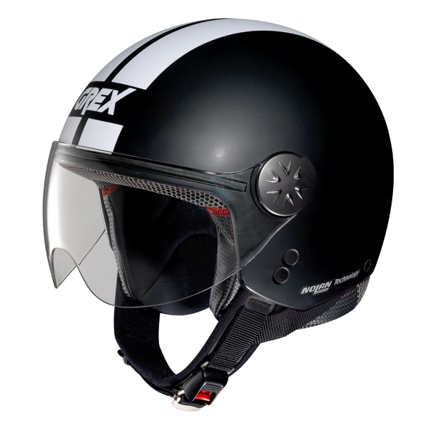 Casco moto jet Grex DJ1 City Stripes Nero Opaco