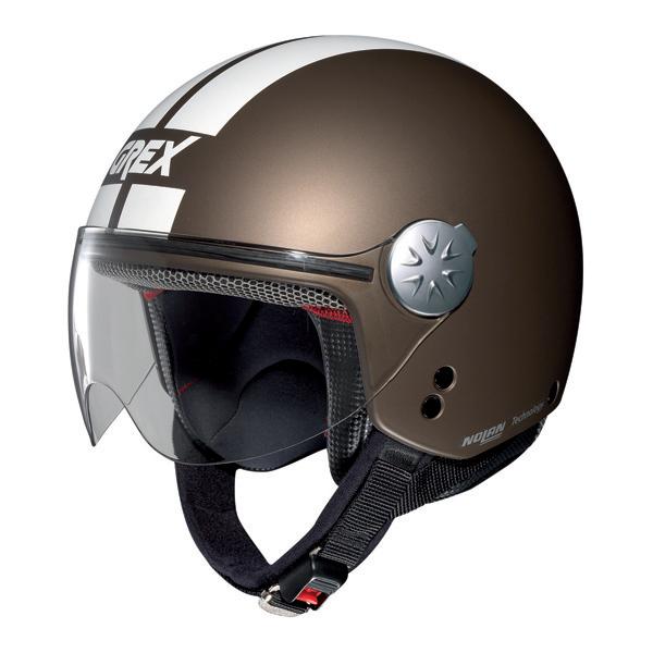Casco moto jet Grex DJ1 City Stripes Moka opaco