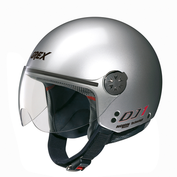 Grex DJ1 City jet helmet Kinetic Metal Silver