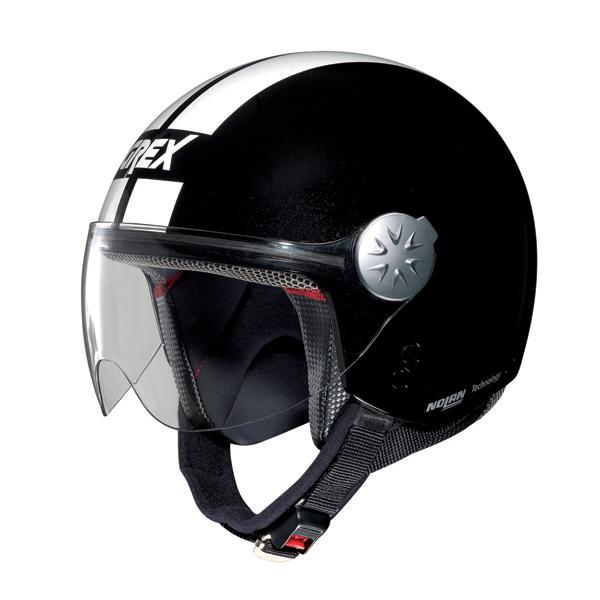 Grex DJ1 City Stripes jet helmet Metal Black