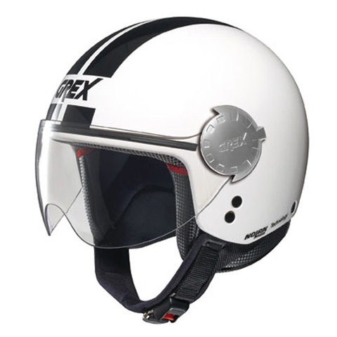 Grex DJ1 City Stripes jet helmet Metal White