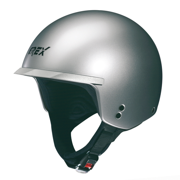 Casco moto jet Grex DJ1 Peak Club silver metal
