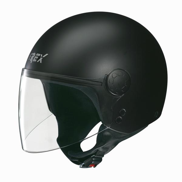 Casco moto jet Grex DJ1 Visor Club nero opaco