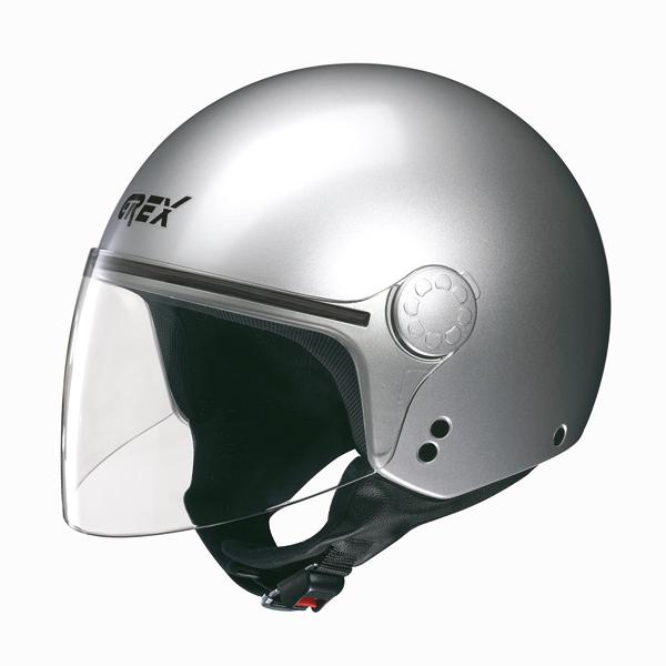 Casco moto jet Grex DJ1 Visor Club silver metal