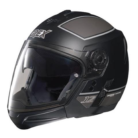 Casco moto Grex J2 PRO Blaze nero-grigio - mentoniera staccabile
