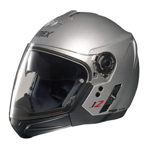 Casco moto Grex J2 PRO Kinetic silver metal ment.staccabile