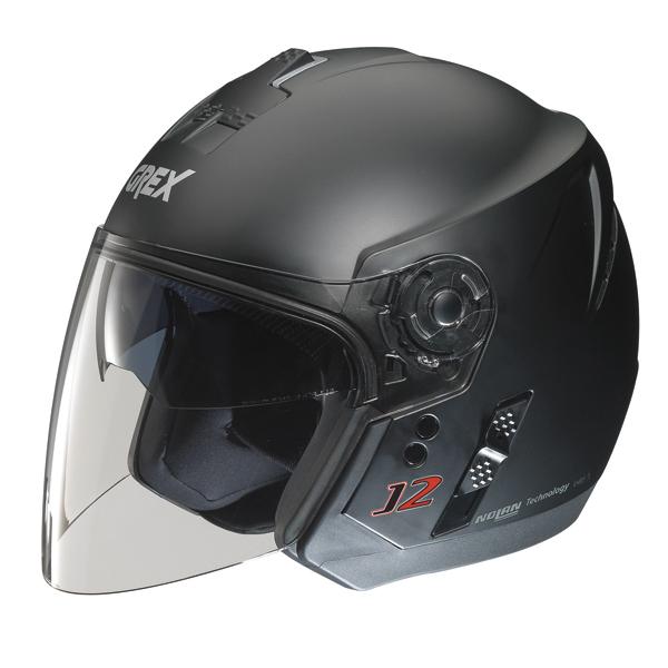 Grex J2 Kinetic jet helmet Flat Black