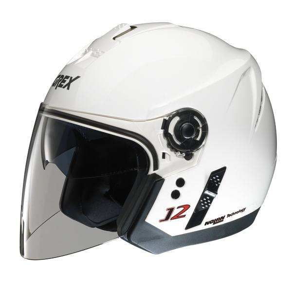 Casco moto jet Grex J2 Kinetic bianco metal