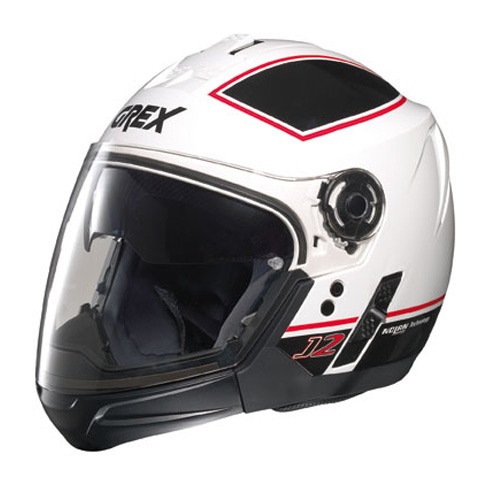 Casco moto Grex J2 PRO Blaze bianco - mentoniera staccabile