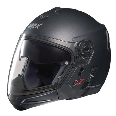Casco moto Grex J2 PRO Kinetic nero graphite ment. staccabile