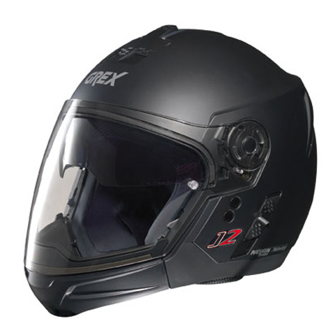 Casco moto Grex J2 PRO Kinetic nero opaco ment. staccabile