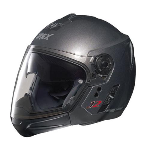 Casco moto Grex J2 PRO Kinetic grigio metal ment. staccabile