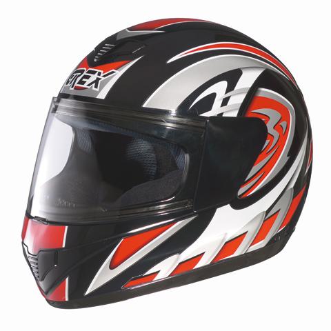 Casco moto integrale Grex R1 Decor Rosso
