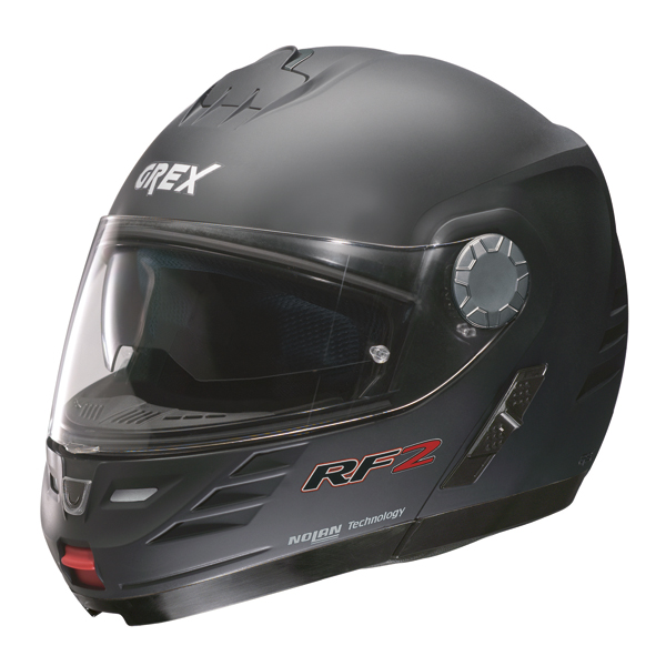 Grex RF2 Kinetic Flipp off helmet Flat Black