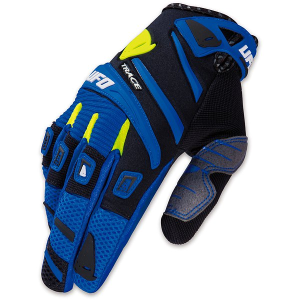 Ufo Plast Trace cross gloves Blue Black