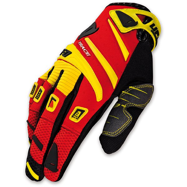 Ufo Plast Trace cross gloves Yellow Red