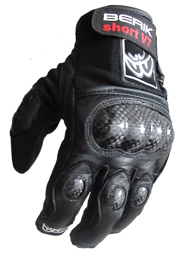 Guanti moto pelle racing Berik G10511 Nero