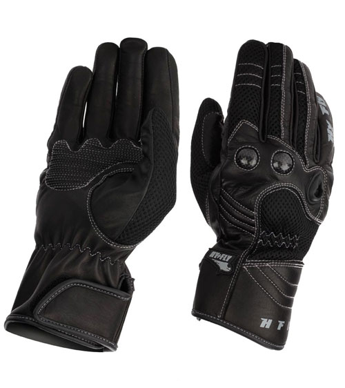 Hy Fly HF1 leather summer gloves Black