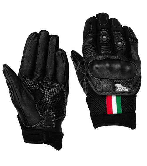 Hy Fly Matrix leather summer gloves Black