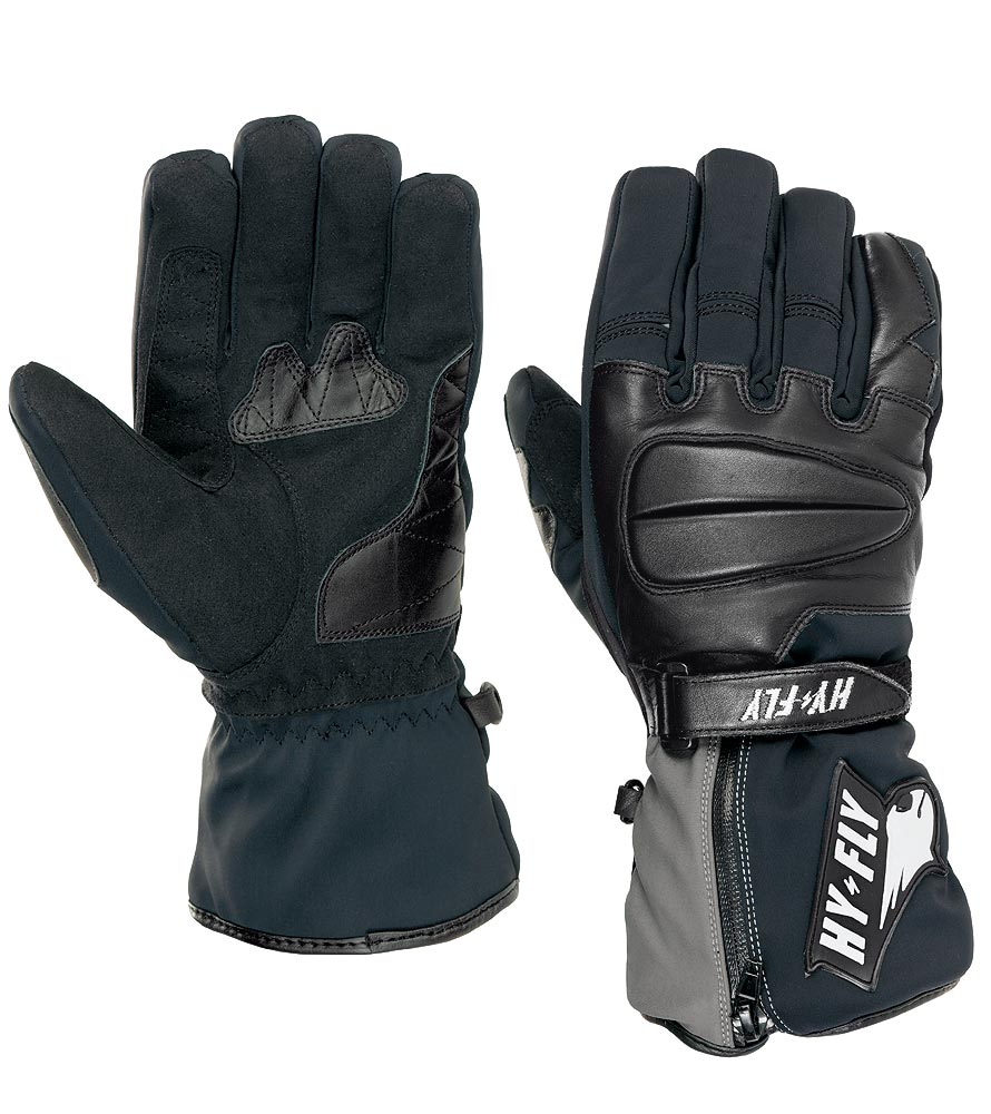 Motorcycle Gloves Nordkapp Hy Fly Color Black