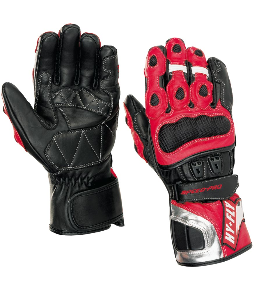 Gloves Motorcycle Speed ??Pro Hy-Fly Color Black Red