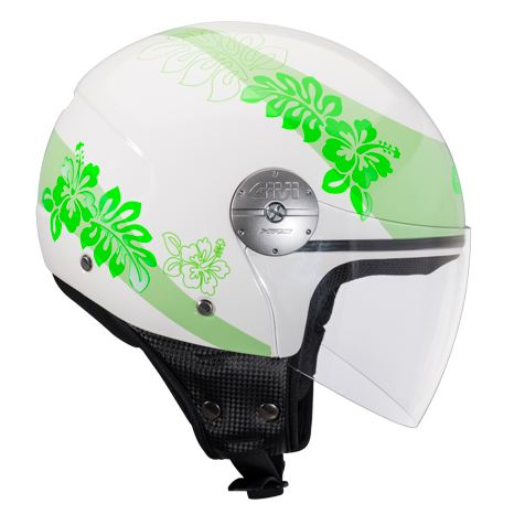 Givi 10.7 Mini-J jet helmet Flower Apple