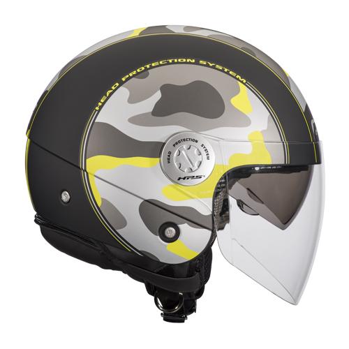 Givi 10.8 Urban-J Cammo jet helmet Black Yellow