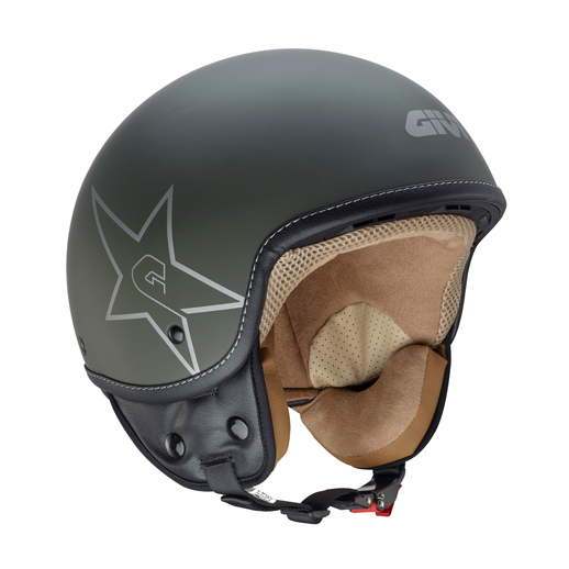 Givi 10.9 Easy-J Green Star jet helmet