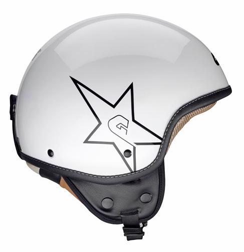 Givi 10.9 Easy-J White Star jet helmet