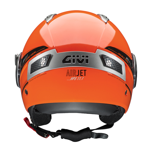 Givi 11.1 Air Jet jet helmet Red fluo