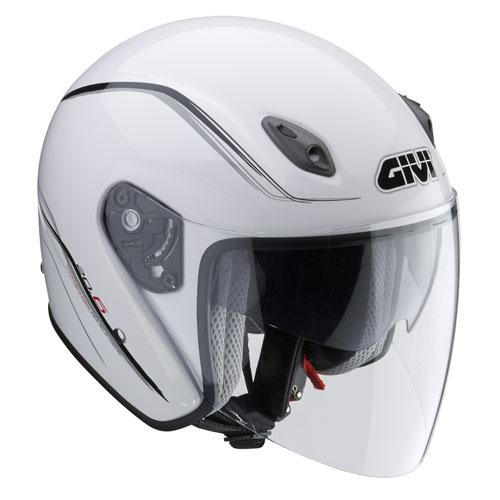 Jet Helmet Givi 20.6 Fiber-J2 White