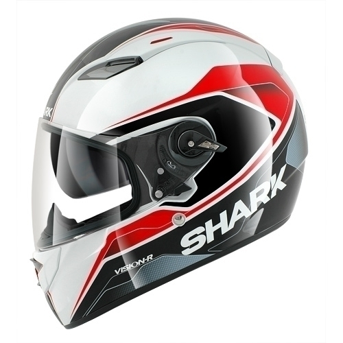 Shark Helmet Vision-R Syntic White Black Red